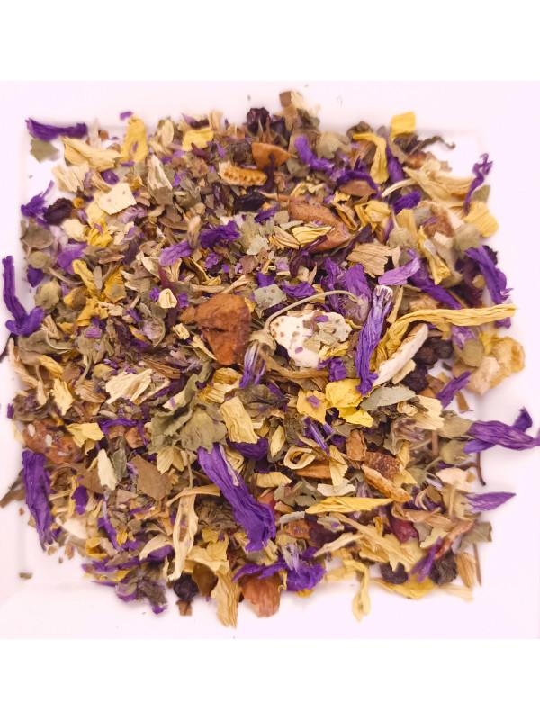 Relaxed herbal tea