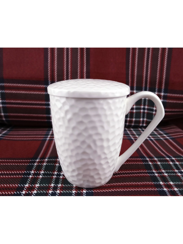 White porcelain cup with...
