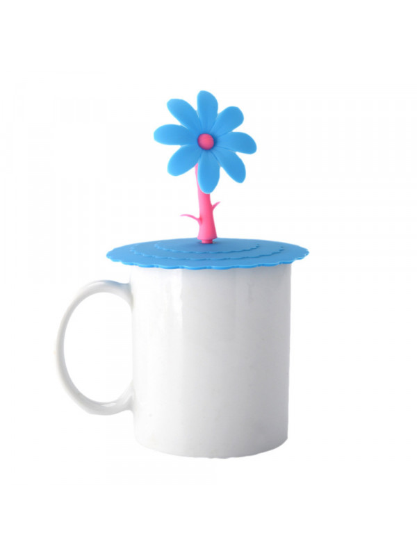 Cup cover with flower